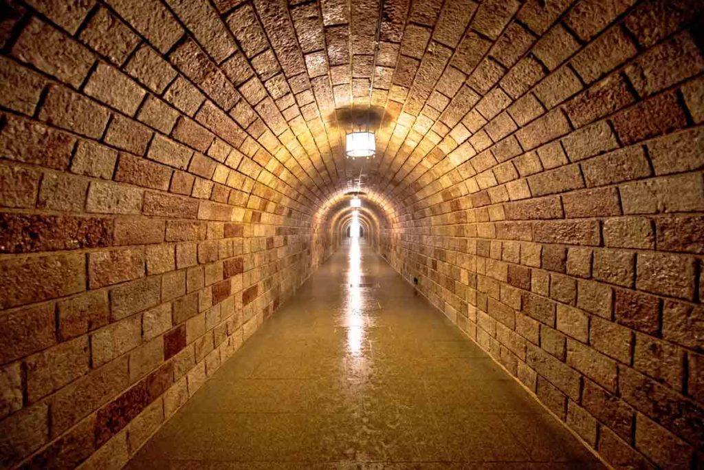 Im Tunnel auf dem Weg zum Kehlsteinhaus in Berchtesgaden
